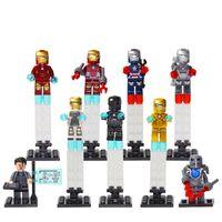 best baby blocks - New Coming Decool Super Heroes Iron Man Blocks Bricks Toys Baby Toys Tony Stark Best Children Gift Toy