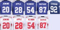 apple stitch - Men s Elite Jerseys Janoris Jenkins Eli Apple Olivier Vernon Sterling Shepard Michael Strahan Stitching Embroidery jersey top quality