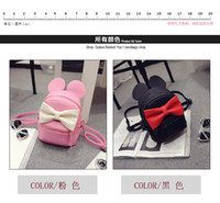 baby corduroy fabric - Ms small bag new mini shoulder bag female Korean tidal pu children cute baby bow ultra small backpack