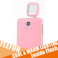 Wholesale Cold and Warm Lighting Phone Sync Flash Battery Inside Flash Mode Adjustable Brigheness Manual Switch Free App