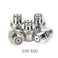 Wholesale 510 to EGO Connector Metal Adapter Ego Fitting Adapter Connector Electronic Cigarette ego Adapter with High Quality