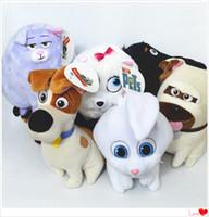 animal toy pad - 6 quot quot The Secret life Of Pets Plush Toys Max Chloe Snowball Bulldog Doll Stuffed Soft Padding Toy