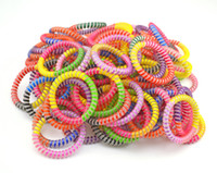 beauty wire rope - 5cm Rainbow Tie Hairband Hair Rubber Rope Bands Telephone Wire Line Gum Hair Ring Beauty Headband For Women Girl