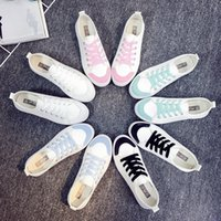 lady leisure shoes - 5 Candy Colors Women Canvas Shoes Women Casua Sneakers For Girls Ladies Leisure Stylish Women s Flats White Summer New