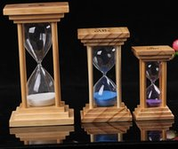art timer - Creative Hourglass Timer Minutes wood and glass Hourglass Art Decorative Sand Hourglass Clock Novelty Gift