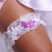 Wholesale Bride To Be White Lace Garter Hen Night Party Bachelorette Bridal Shower H7