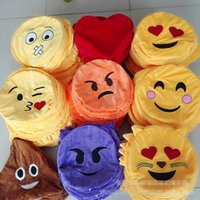 Wholesale New cm Inches Emoji Stuffed Animals cartoon emoji Plush Toys Pillow Cushion Decorative Pillow styles with zipper EMS