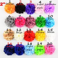 fabric tulle - HOT shabby Chiffon Flower head Tulle Lace Layered Flowers baby gilrs hair accessory Fabric flowers Headwear