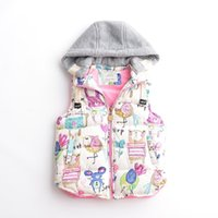 american standard suppliers - New Autumn Baby Girls Vests Printing Animal Hooded Worm Fashion Girls Outerwear Girls Coats Supplier