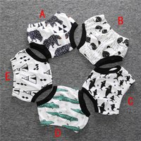 Wholesale 2016 INS Baby Shorts Summer Animal Striped Shorts Kids PP Shorts Baby Bloomers Boys and Girls Briefs Diaper Triangle Pants Colors DHL