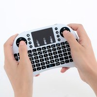 Wholesale New RF i8 Mini Wireless Keyboard ghz English Air Mouse Keyboard Touchpad Remote Control For MINI M8S XIAOMI Android TV Box