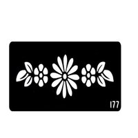 Wholesale New Style Flower Henna Tattoo Templates Stencils For Hands Glitter Tattoo Stencil Pochoir Tatouage T001 EE