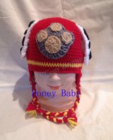 baby puppy photos - Red Dalmation Dog Crochet Hat Knitted Puppy Beanie Winter Infant Toddler Headwear Baby Boy Girl Cartoon Animal Hat Cotton Newborn Photo prop