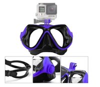 Wholesale Diving Goggles Scuba Silicone Glass Mask Underwater Sport Color For Gopro SJCAM HD Action Camera