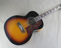 Wholesale 43 Inch Folk Acoustic Guitar with Strings and Red Pickguard Tobacco Sunburst Color can be Customized