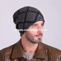 beach matt - DHL new Matt knitted hats plus velvet wool winter cap winter ski hat warm knitted hats men Beanie Skull Caps