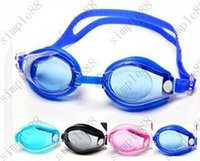 Wholesale High quality Antifog waterproof UV swimming mirror swimming glasses goggles adult men and women