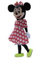 Wholesale Hot Sale Red Minnie Mouse mascot costume Adult Size Fancy Dress Holloween Costume