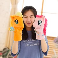 Wholesale Anime Hand Puppets For Kids Cute My Little poni lovely horse Hand Puppets high quality Early Childhood Education