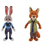 22cm Zootopia Nick Wilde et Judy Hopps peluche lapin en peluche Fox Cartoon Poupées Meilleur cadeau mignon 20pcs Peluche Jouets