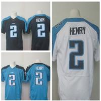 Wholesale 2016 Newest Men s TT Derrick Henry White Blue Football Jerseys Good Quality