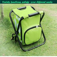 Wholesale Outdoor foldable rear section leisure fishing stool chair with an ice pack over convenience