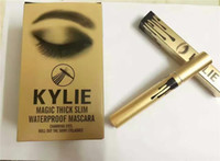 Wholesale Kylie Mascara Magic Thick Slim Waterproof Black Mascara Lengthening Shiny Eyelash Eyes Kylie Jenner Cosmetic Makeup Mascara