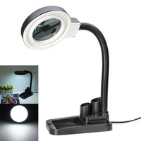 Wholesale New Arrival High Quality Magnifying Crafts Glass Desk Lamp With X X Magnifier LED Table Lighting