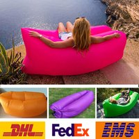 Wholesale 2016 Portable Outdoor Lazy Pads Inflatable Mattress Air Pads Sleeping Bags Beach Camping Backpacking Travel Bed Lazy Chair WX P01