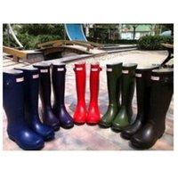 Wholesale 2016 Fashion Hunter Boot Women Wellies Rainboots Ms Glossy Hunter Wellington Rain Boots Wellington Knee Boots Fast Delivery Wellt Boots
