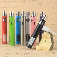 ego battery micro usb - Newest Evod Micro USB Passthrough UGO V Samsung USB pass through Electronic Cigarette mah mah battery Bottom Top Charge e cigs
