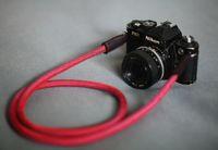bag flash - COOL RED Climbing rope mm handmade Camera neck strap