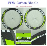 Wholesale Fashion Decals FFWD Carbon Wheels Cycling C Wheelset mm Carbon Rims Clincher Tubular Available Powerway R13 Hubs Bikes Wheel