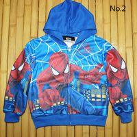 Wholesale New Boys Autumn Coats Autumn Hooded Jackets Long Sleeve Superman Spiderman Minnons Children s Outerwear Boys Clothing Y