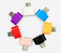 Wholesale Mini Micro USB OTG Hug Converter Camera Tablet MP3 OTG Adapter for Microusb OTG cable