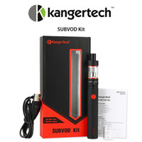 battery options - Kanger SubVod Starter Kit Clone E Cigarette Kit with Top Fill Subtank Nano S Atomizer mAh Rechargeable Battery Six Colors Option