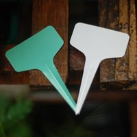 Wholesale HIGH QUALITY x10cm Plastic Plant T type Tags Markers Nursery Garden Labels garden supplies