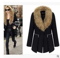 Wholesale 2016 new autumn and winter in the long section of large and large size women fat mm woolen coat