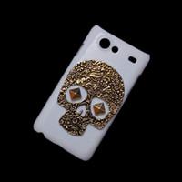advanced skeleton - Hard Back Case Cover for Samsung Galaxy S Advance I9070 Vintage Retro Bronze Metallic Skull Skeleton Punk Rivet Stud Protective Skin Shell