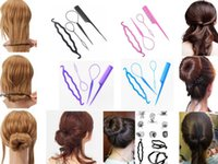 Wholesale 4 Set Styling Clip Bun Maker Hair Twist Braid Ponytail Tool Accessories