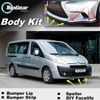 Wholesale Bumper Lip Lips For Citroen Jumpy Dispatch MK2 Front Skirt Deflector Spoiler For Car Tuning The Stig Recommend Body Kit Strip