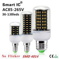 Wholesale Bright W W W W W Led Bulb E27 E14 GU10 G9 Led Lights SMD Led Corn Lights AC V lamp bulbs