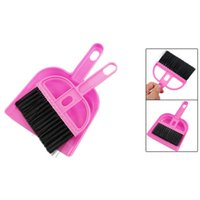 Wholesale Amico Office Home Car Cleaning Mini Whisk Broom Dustpan Set Pink Black