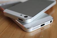 Negro blanco color del marco de la pieza de recambio completo de vivienda Volver batería cubierta intermedia de metal cubierta trasera para el iPhone 5 5G 5S envío