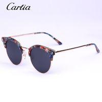 achat en gros de x lunettes de soleil en métal-2016 Carfia nouvelle arrivée KOOG-X lunettes de soleil de marque designer lunettes de soleil en métal tournesol lunettes de soleil polarisées pour les femmes 51mm avec emballage d'origine