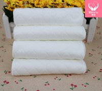 Wholesale maternal and child supplies Three layer white cotton diapers ecological cotton diapers factory outlet