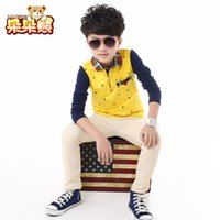 Wholesale 2017 fashion children t shirts for boys long sleeve Kids Tshirt child clothings kids tops tees Y Boy s T shirts
