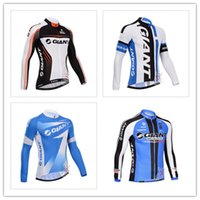 Wholesale Long Sleeve Cycling Jersey Giant Team winter Fleece cycling jersey long sleeve Cycling clothing Long Sleeve Cycling Jersey
