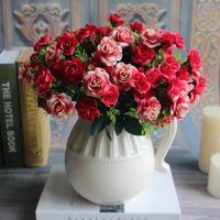 austin homes - Austin Bunch Heads Spring Silk Flowers Artificial Rose Wedding Floral Decor Plant Flower Arrangement Home Decor