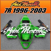 Wholesale Fairings Addmotor Best Chioce Compression Mold ABS For Kawasaki ZX7R ZX R Green White Black K7632 Free Gifts Brand New